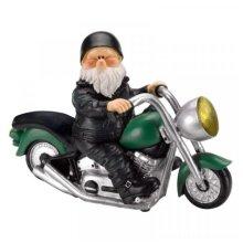 Garden Ornament Wilf Gnome on Motorbike Born To Be Wild