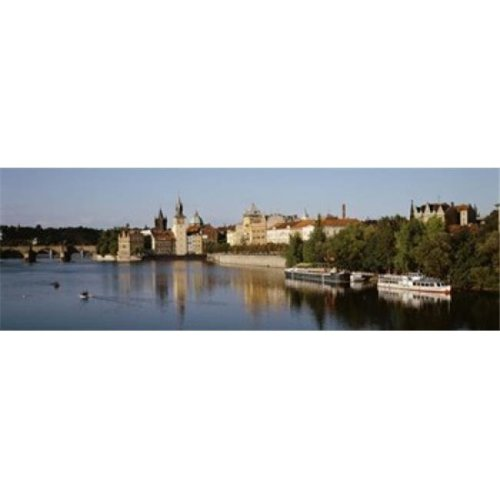 Buildings at the waterfront  Prague  Czech Republic Poster Print by  - 36 x 12