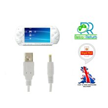 Sony PSP Charger 1000 2000 3000 Lite WHITE USB