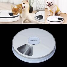 Automatic 6 Day Meal timed Pet Dog Cat Feeder Food Bowl Auto Dispenser