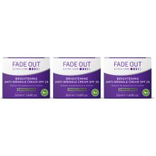 Fade Out Extra Care Brightening Anti-Wrinkle Cream with SPF25 3x50ml -Face Cream To Moisturise & Hydrate Skin & Brighten & Even Skin Tone,