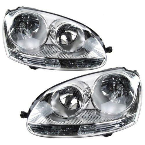 Volkswagen Golf Mk5 5/2004-2009 Headlights Headlamps 1 Pair O/s & N/s
