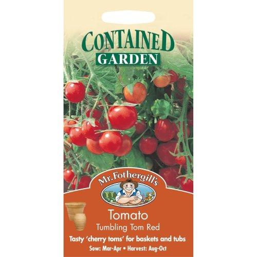 Mr Fothergills - Pictorial Packet - Vegetable - Tomato Tumbling Tom Red - 15 Seeds