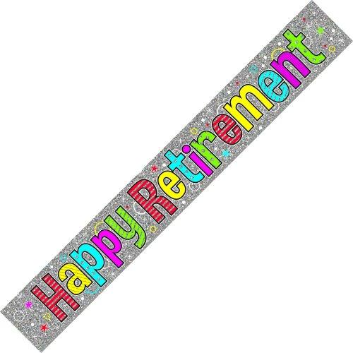 Happy Retirement Banner Multi Coloured