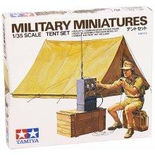 Tamiya35074 WWII diorama set Tent with Wireless Model Kit Scale 1:35