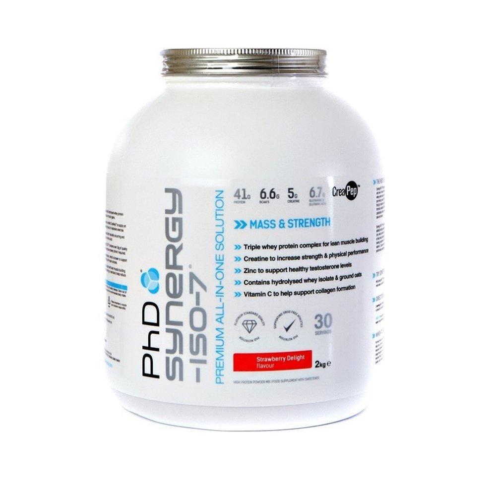 (Strawberry Delight, 2kg) Phd Nutrition Synergy Iso-7
