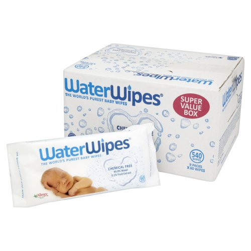 WaterWipes Chemical Free Baby Wipes Natural & SuperSensitive, 9 x 60 (540 Wipes)