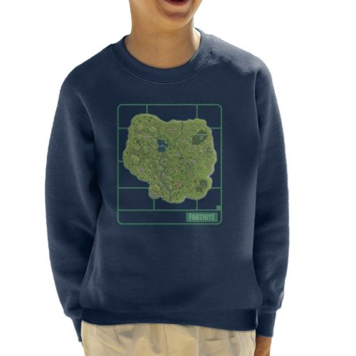 Fortnite Map Airfix Kid's Sweatshirt