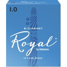 Royal by D'Addario Rico 1.0 Strength Reeds for Bb Clarinet (Pack of 10)