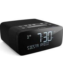 Pure Siesta Rise S Alarm Clock Radio with Bluetooth - Digital DAB+ / FM Radio - USB Phone Charging - CrystalVue Auto-dimming Display - Graphite