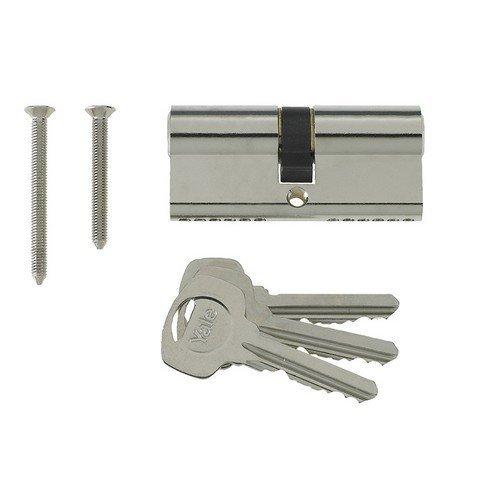 Yale Locks PKM4050-NP Euro Double Cylinder Kitemark 40 x 50 100mm Nickel Plated Visi