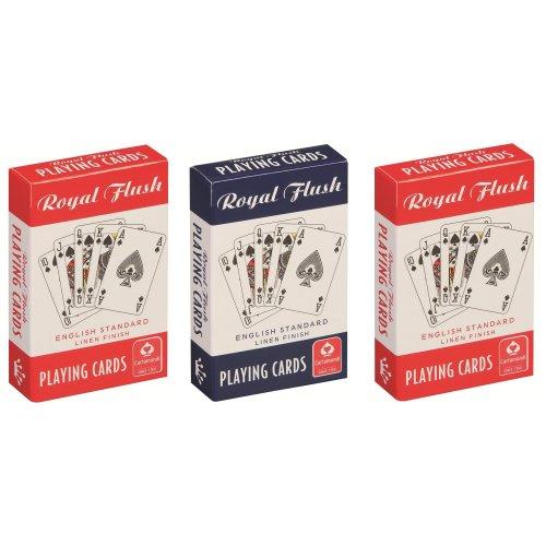 Cartamundi Royal Flush Standard Playing Cards Pack of 3 RedWhiteBlue