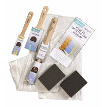 Harris Upcycle 6pc Decorating Painting Renovating Kit inc Guide Paint Brushes Sanding Blocks and Dust Sheet