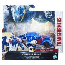 Transformers The Last Knight 1-Step Turbo Changer Cyberfire Optimus Prime Figure