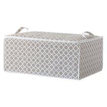Compactor Madison Duvet Storage Bag 70 x 50 x 30cm, Taupe/White