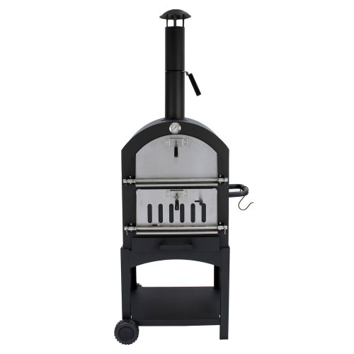 (Without Cover) Outdoor Pizza Oven & Charcoal Barbecue   Multi-Function Garden Oven