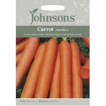 Johnsons Seeds - Pictorial Pack - Vegetable - Carrot Nantes 5 - 2000 Seeds