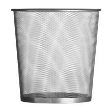 Small Wire Waste Paper Bin For Home Office, Silver