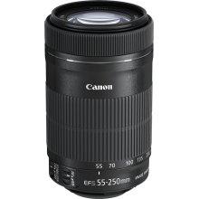 Canon EF-S 55-250 mm f/4-5.6 IS STM Lens,Black
