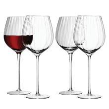 'LSA International 660 ml Aurelia Red Wine Glass, Clear (Pack of 4)