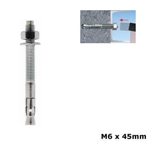 Masonry Shield Anchor Eyes 10Pk M6 X 80Mm Fixings /& Fasteners Anchors Fixman