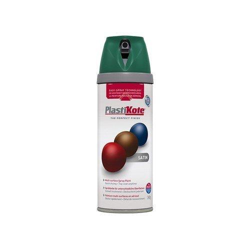 Plasti-Kote PKT22112 Twist & Spray Satin Hunt Green 400ml