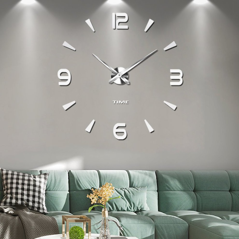 Frameless Large 3d Diy Wall Clock Mute Mirror Stickers Home Office School Decoration 2 Year Warranty On Onbuy