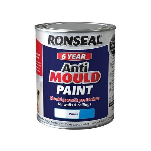 Ronseal 36623 6 Year Anti Mould Paint White Matt 750ml