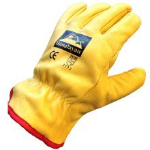 Himalayan H310 Fleece-Lined Leather Gloves | Thermal Work/Drivers Gloves PPE