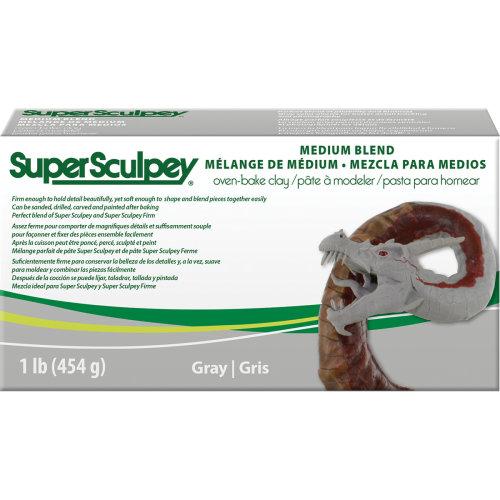 Super Sculpey Medium Blend Clay 1lb-Gray