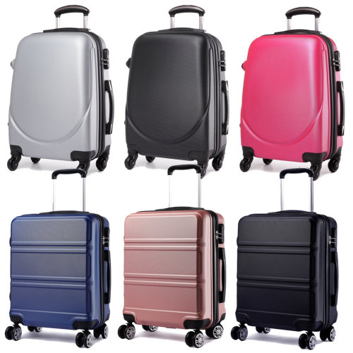 Nude Hard shell Trolley Suitcase Lightweight Luggage Travel  4 Wheel 20 inch