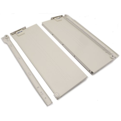"""Metabox Metal Drawers Sides/Runners Rollers Set WHITE H-150mm 5.9"""" L-450mm 17.7"""""""