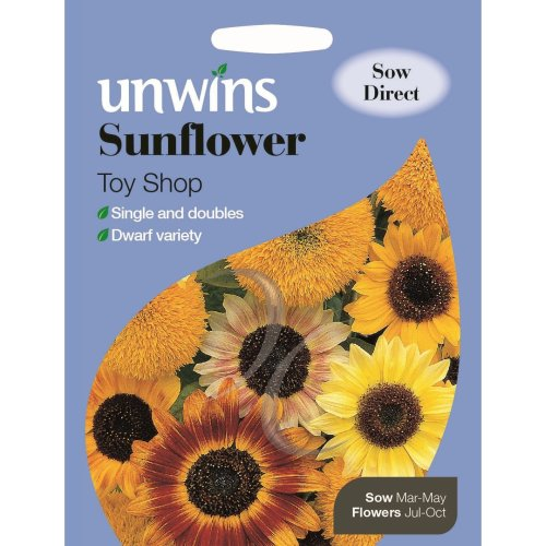 Unwins Grow Your Own Colourful Mix Toy Shop Sunflower Flower Seeds