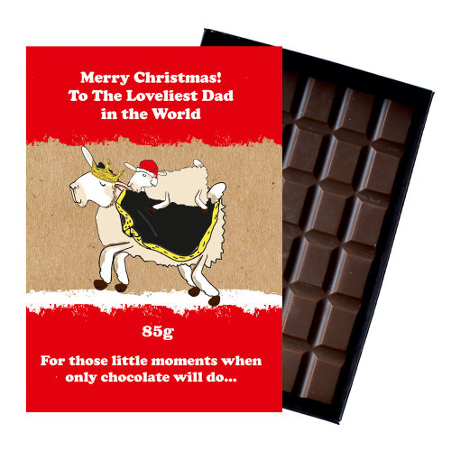 Funny Christmas Gift for Dad Father Chocolate Xmas Present for Daddy