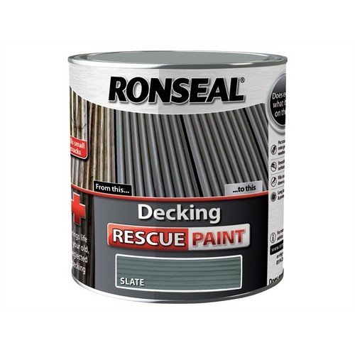 Ronseal 37454 Decking Rescue Paint Slate 2.5 Litre