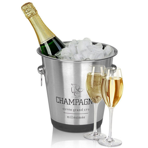 Geezy Stainless Steel French Silver Champagne & Wine Ice Bucket