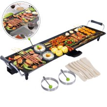 Electric Teppanyaki Table Top Grill Griddle BBQ Hot Plate