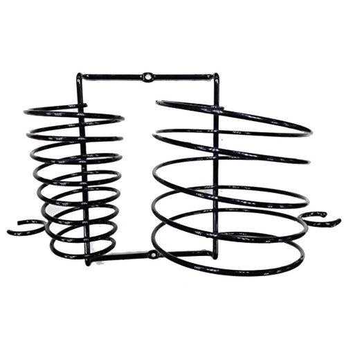 Black Hair Dryer & Straightener Holder | Wall-Mounted Hair Tool Storage