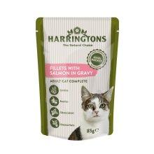 Harrington's Wet Cat Salmon in Gravy, 24 x 85 g