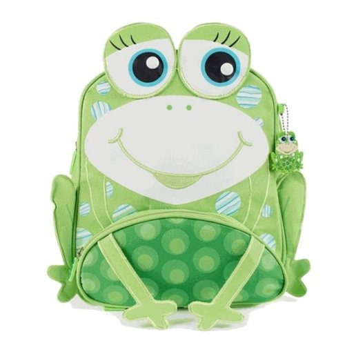 Green Frog Cute Frog Design Friends Little Kids Backpack
