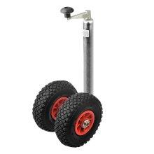 ProPlus 341508 Plastic Rim Double Jockey Wheel with Air Tyre