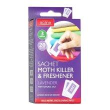 Pack of 20 Acana Moth Killer & Freshener Sachets with Lavender Fragrance