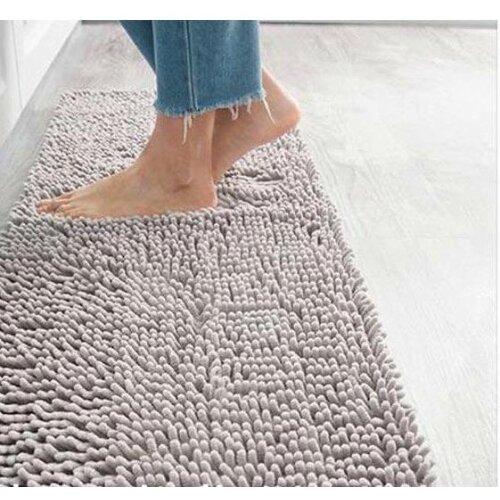 Microfiber Chenille Bath Mat Water Absorb Anti Slip Bathroom Rug Carpet