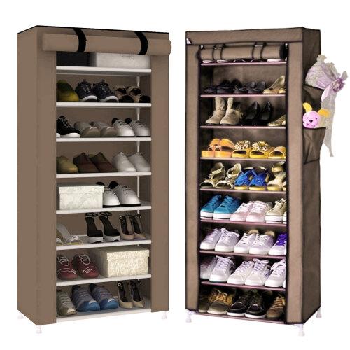 10 Tier Dustproof Shoe Rack Cabinet Storage Organiser Stand Holder