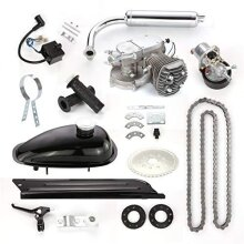 Queiting 80CC Bicycle Engine Kit 2 Stroke Gas Motorized Bike Motor Pedal Cycle Engine Electric Bicycle Conversion Kit with Tools