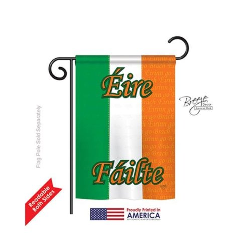 Breeze Decor 58072 Ireland 2-Sided Impression Garden Flag - 13 x 18.5 in.