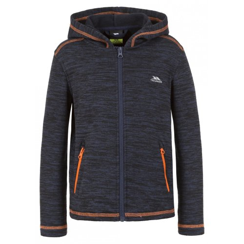 (2-3 Years, Navy Marl) Trespass Childrens Boys Shaw Full Zip Hooded Fleece Jacket