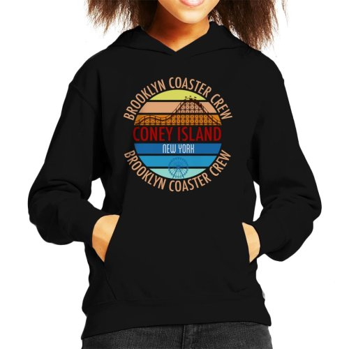 Coney Island Brooklyn Coaster Crew Kid's Hooded Sweatshirt
