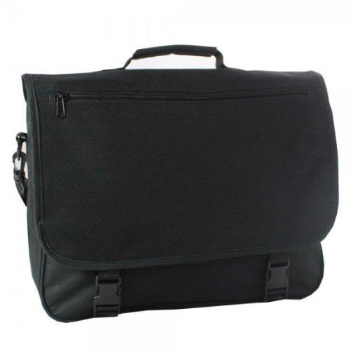 """15.6"""" Falcon Laptop Messenger Bag - FI2511 Black"""