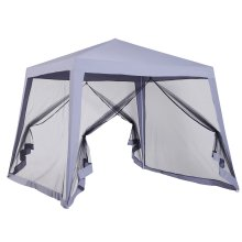Outsunny 3x3(m) Outdoor Gazebo Canopy Tent Event Shelter w/ Mesh Side Grey
